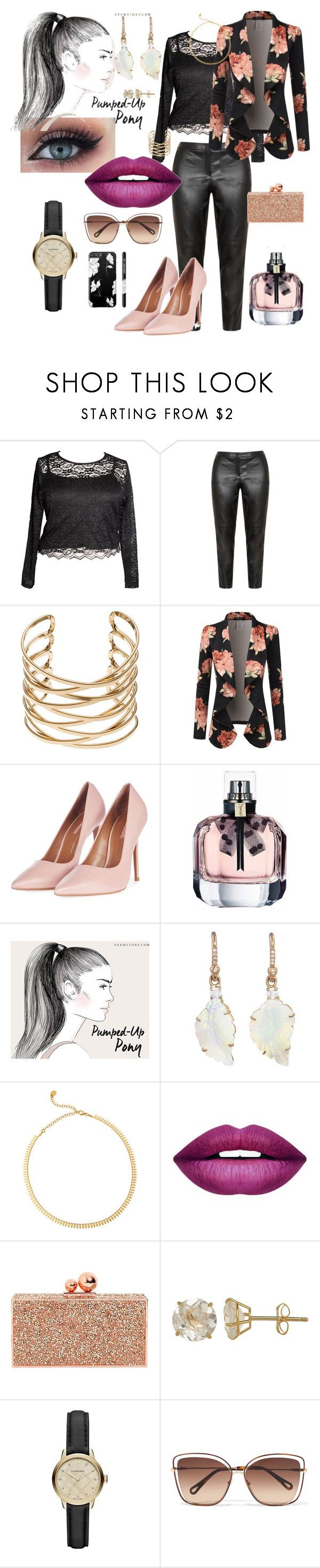 """""""Power Plus"""" by joy-chiquita-godboldo ❤ liked on Polyvore featuring Samoon, Doublju, Topshop, Irene Neuwirth, Argento Vivo, Forever 21, Sophia Webster, Everlasting Gold, Burberry and Chloé"""
