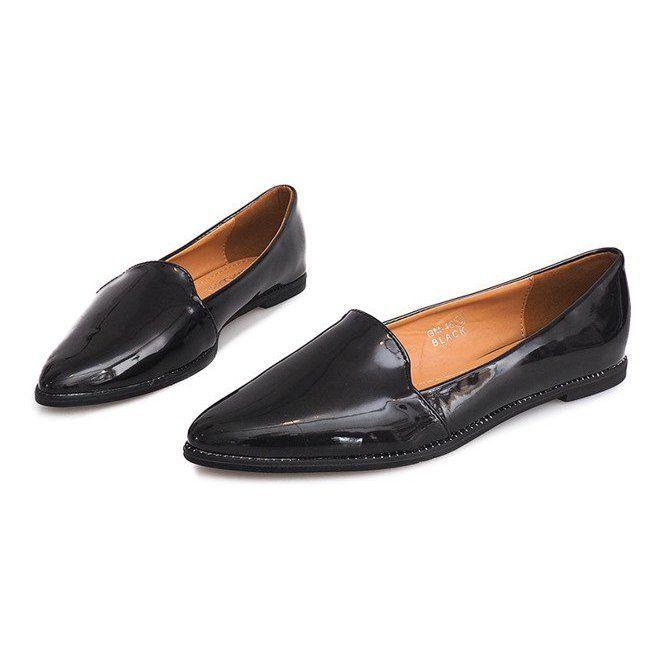 Lordsy Z Fredzlami Gm 45 Czarny Czarne Shoes Loafers Fashion