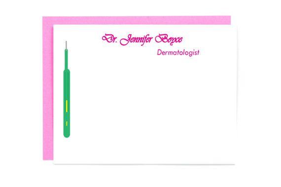 Personalized Dermatologist Stationery Set of 10 - Doctor Gift - Medical Stationery - Dermatologist Gift - Medical Gift - Medical Office