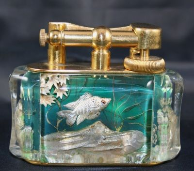 Art Deco Dunhill Aquarium Lighter  now this is a lighter!!