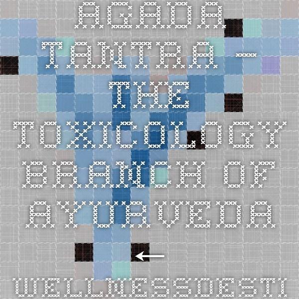 AGADA TANTRA – THE TOXICOLOGY BRANCH OF AYURVEDA ← WellnessDestinationIndia