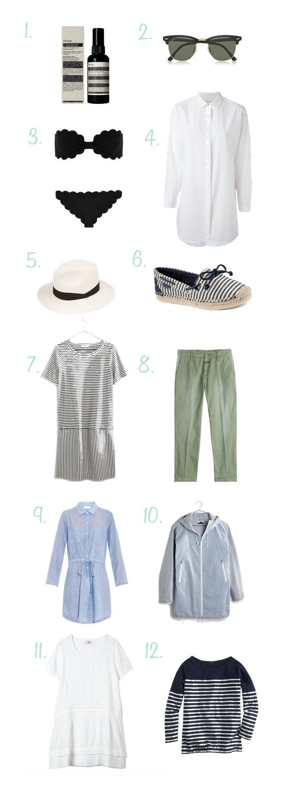 Sail Away - 12 Items To Pack For A Sailing Boat Trip • ADORENESS