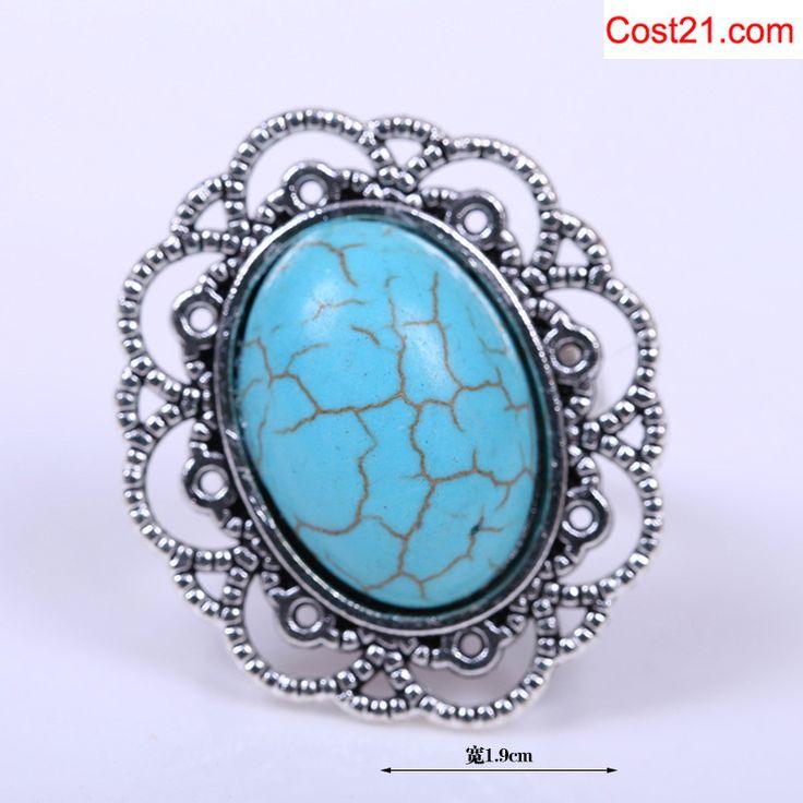 adjustalbe size Turquoise ring