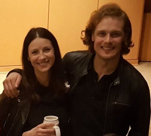 Sam Heughan and Caitriona Balfe at The Emerald City Comic Con Day