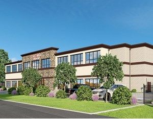 Rendering of the self-storage project at 2515 Westminister Road