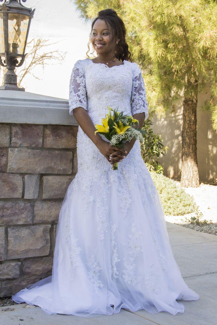 18 best custom modest wedding dresses flower girl dress for Lds wedding dresses lace