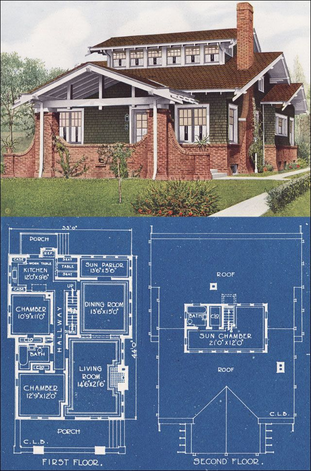 Airplane Bungalow - American Homes Beautiful - Full Color Plan Book - C. L. Bowes of Chicago
