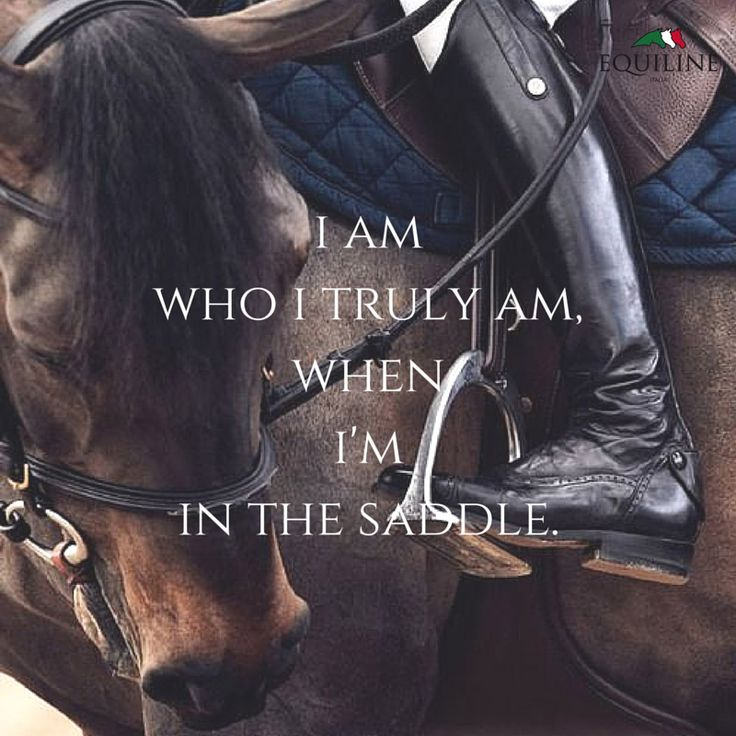 I am who I truly am, when I'm in the saddle.  #equestrian #quotes #equiline