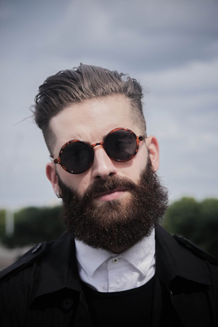 Great Hair Amp Beard With Dapper Round Men S Sunglasses In