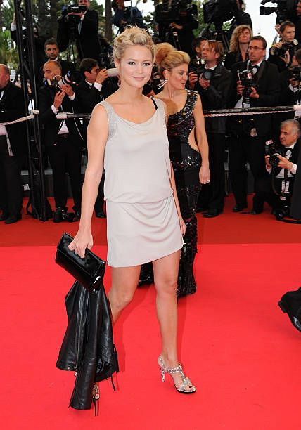 Virginie Efira attends the 'Un Conte de Noel' premiere at The Palais during the 61st Cannes International Film Festival on May 16 2008 in Cannes...
