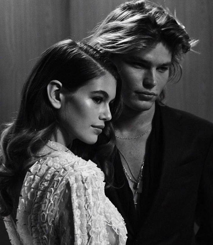 Kaia Gerber and Jordan Barrett.