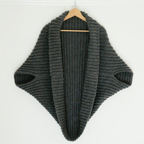 Can you single crochet? That's all you need to know to make this Simple Crochet Cardigan from a giant rectangle. Perfect for beginners.