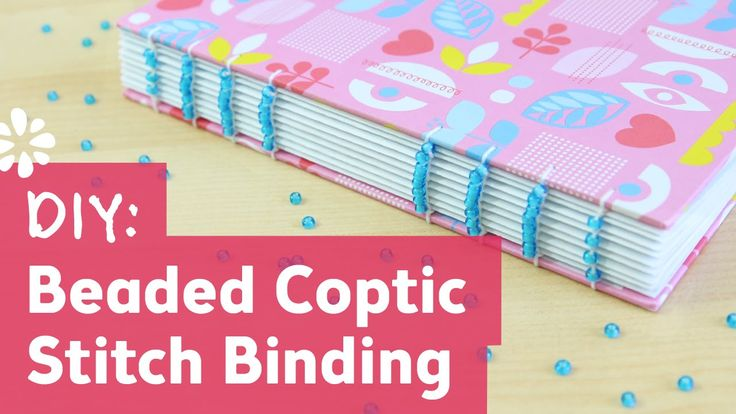 Coptic Stitch Binding with Beads