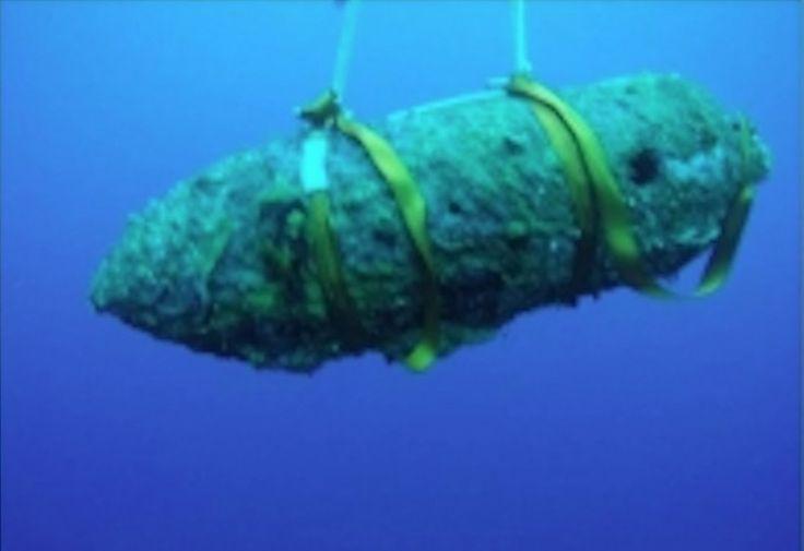 Jeudi 3 août 2017. Un nouvel obus datant de la seconde guerre mondiale a été découvert ce matin sur la plage de Torreilles (Pyrénées-Orientales). «Un baig
