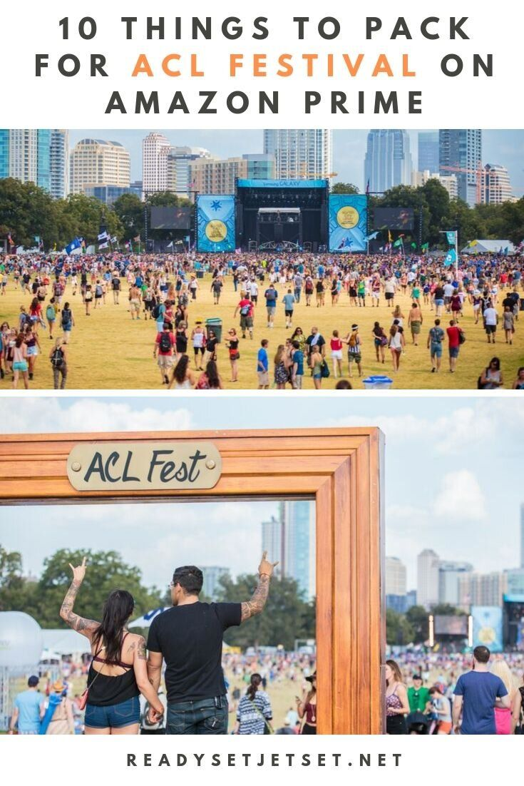 10 Packing Essentials On Amazon Prime For Acl Festival Acl