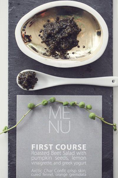 Caviar and Wedding Card | Modern and Minimalist Wedding | Photos by Studio Uma | Camille Styles