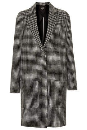 Dogtooth Printed Throw On Coat from Topshop