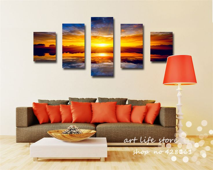 Cheap art deco oil painting, Buy Quality art flower painting directly from China art painting software Suppliers: 5 Pcs Of Each Set Printed Pictures  Wall Art Picture Canvas Painting HD Sunshine All Worlds Beauty Landscape  Art Love