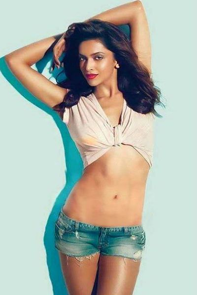 Deepika Padukone posing in hot pants