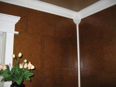 wallpaper with brown paper bags or roll paper then glazed. http://www.ehow.com/how_6283725_make-wallpaper-out-paper-bags.html