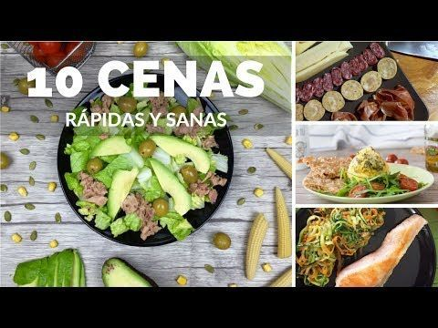 10 EASY, LOW CALORIE, VEGETARIAN, YUMMY AND HEALTHY DINNER OR LUNCH RECIPES - YouTube