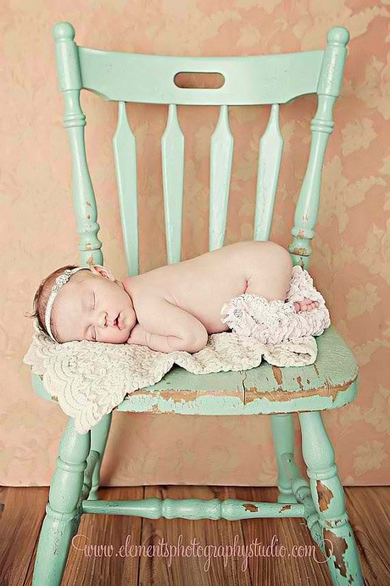 Baby picture on farm chairs