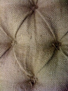Tufted Burlap Headboard