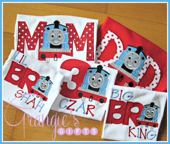 Personalized Thomas the Train Birthday T-Shirt by GrangiesGifts