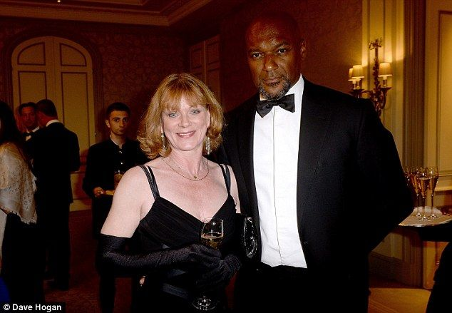 Mingling with the masses: Samantha Bond and Colin Salmon talked shop at the glamorous venu...