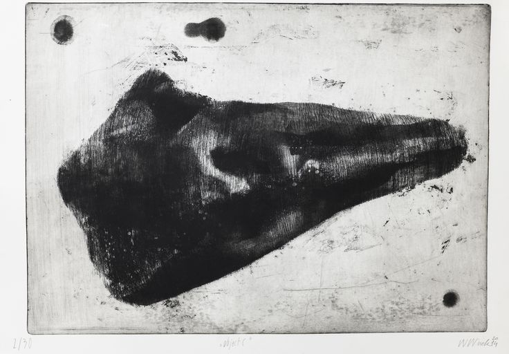 "Witold Winek ""object-C"", 53X78, aquatint, 2014"