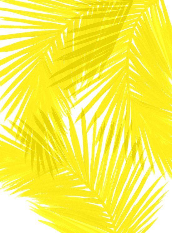 Palms Yellow Art Print
