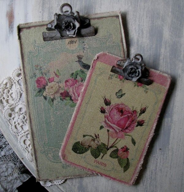 shabby chic clipboards
