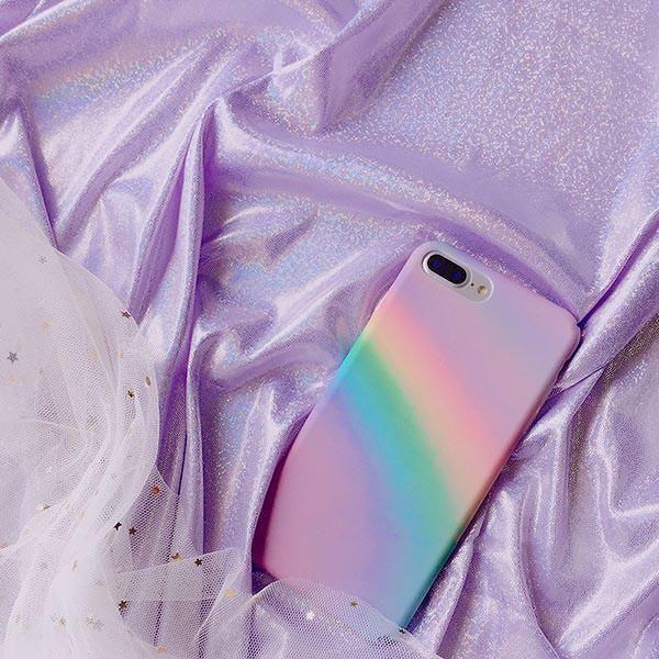 pastel rainbow iphone case, soft grunge, palegrunge, grunge, aesthetic