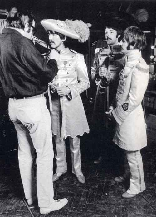 George Harrison, Paul McCartney, and Richard Starkey (Mal Evans and Co. at the Sgt. Pepper's photo-shoot)
