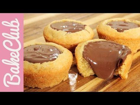 Υπέροχα Cupcakes με μπισκοτένια ζύμη και γέμιση Νουτέλα (Video) | Συνταγές - Sintayes.gr