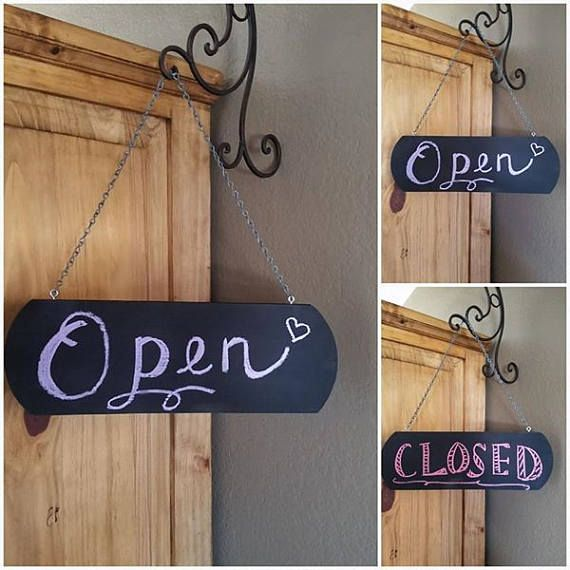 Hey, I found this really awesome Etsy listing at https://www.etsy.com/listing/518318570/chalkboard-open-closed-sign