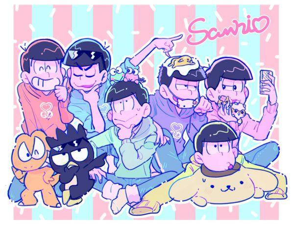 Osomatsu-san- Osomatsu, Karamatsu, Choromatsu, Ichimatsu, Jyushimatsu, and Todomatsu #Anime「♡」Sanrio