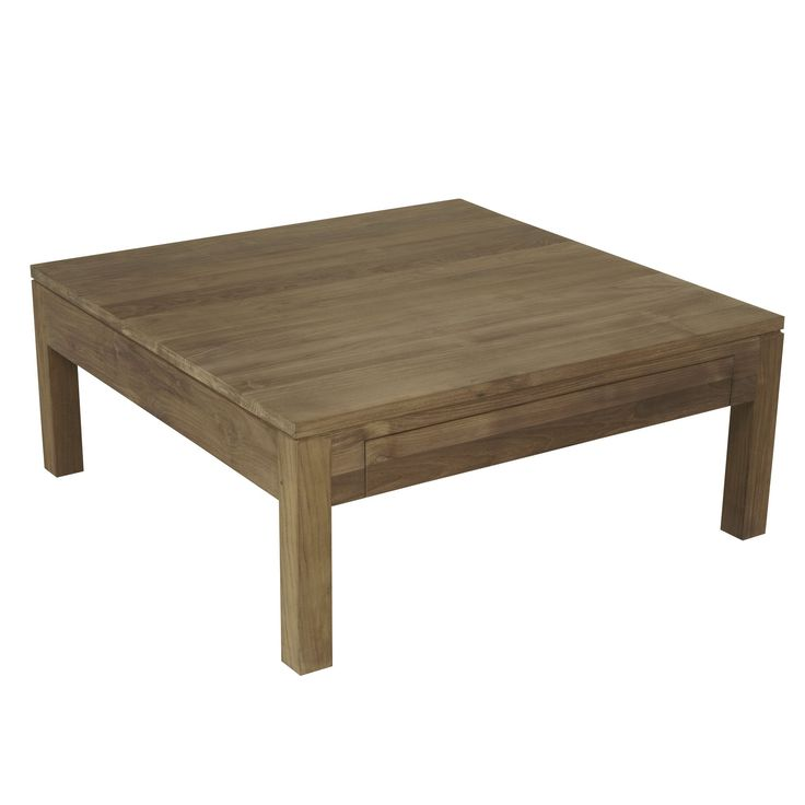 Table Basse Carr E En Teck Teck Emotion Les Tables Basses Tables Basses Et Bouts De Canap