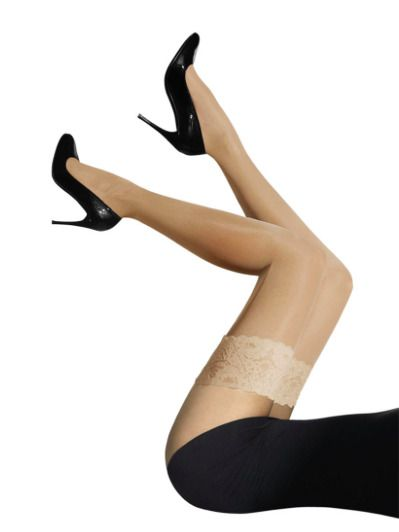 4c823638e Wolford Satin Touch 20 Stay Up Stockings Hold Up Thigh Highs Gobi  fashion   clothing