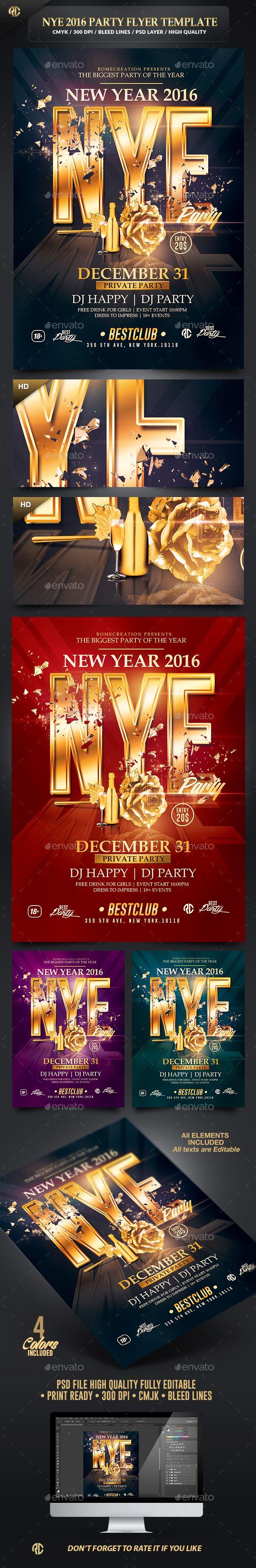 100 besten New Year Party Flyer Templates Bilder auf Pinterest ...