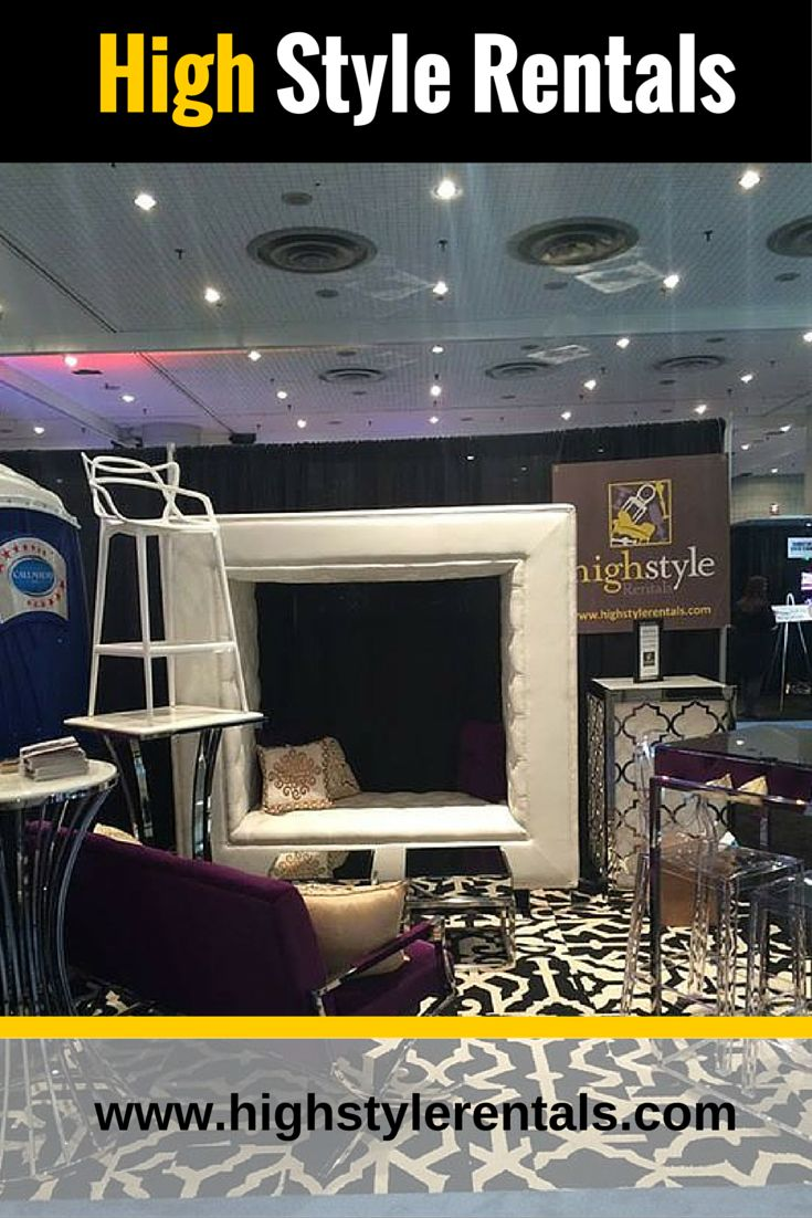"""Give your party and event a new look with modern #furniture organized by """"High Style Rentals """"on very affordable rental prices.  Call us now and make your #event more beautiful and memorable."""