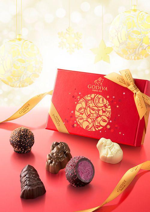 ゴディバのクリスマス限定「ノエル ルミヌ コレクション」キラキラ輝く華やかなショコラ&マカロン | ニュース - ファッションプレス