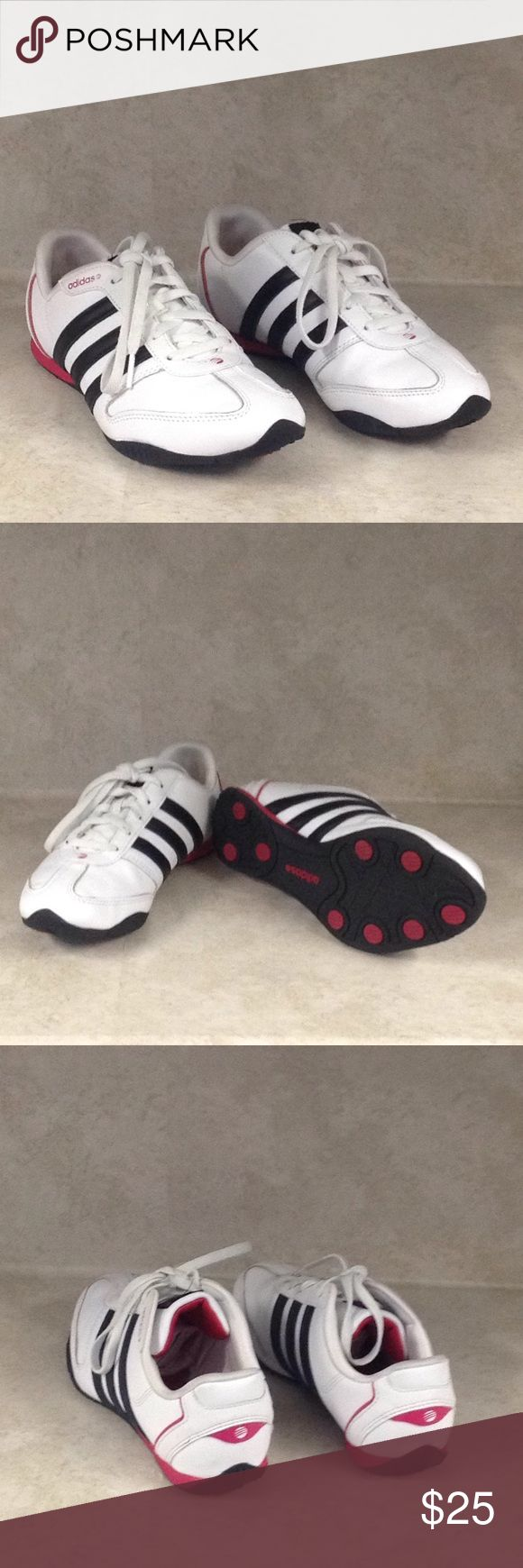 Adidas Vibe Complete Sneakers Adidas Vibe Complete low profile sneakers. White/Black/Pink. Worn once. New Condition. adidas Shoes Sneakers