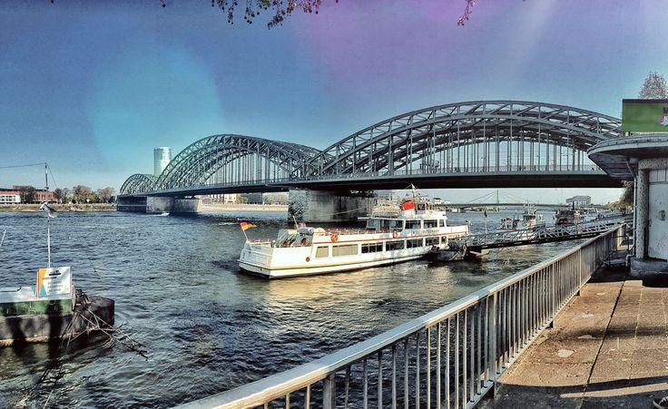 on the rhine, cologne  http://www.fashionablestreets.blogspot.com #travel #koeln #cologne #bridge #rhine #rin