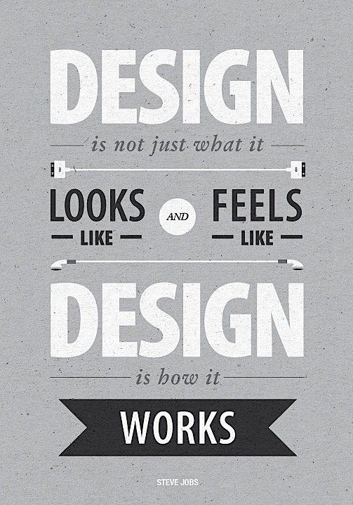 design is not just what it looks like