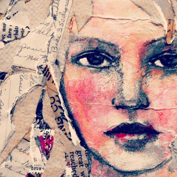 Mixed Media Portrait by Rachelle Panagarry http://www.rachellepanagarry.com