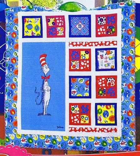 The Magical Cat In The Hat Quilt Kit By Robert Kaufman