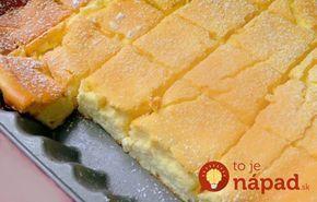 Najjemnejší tvarohový koláč: Stačí len zmiešať, naliať na plech a máte hotovo!