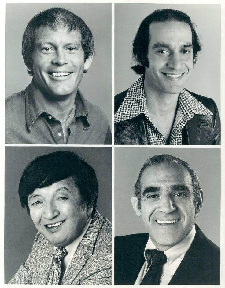 Barney Miller's 1975 cast (Wojo, Chano, Nick and Fish)