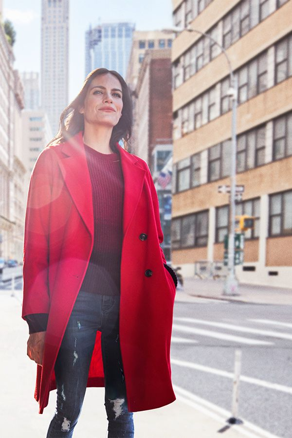 Discover our Autumn collection, including these new season coats.  Inject some high-octane colour into your autumn wardrobe with this statement scarlet coat. Play with proportions and keep things casual by teaming it with slim jeans and sporty sneakers or pointy flats Red coat £30.00. Discover more online and instore at George.